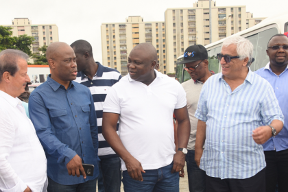 Governor Of Lagos Visits Eko Atlantic City | Eko Pearl Towers