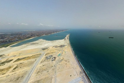 Bird's Eye View Of Eko Atlantic City | Eko Pearl Towers