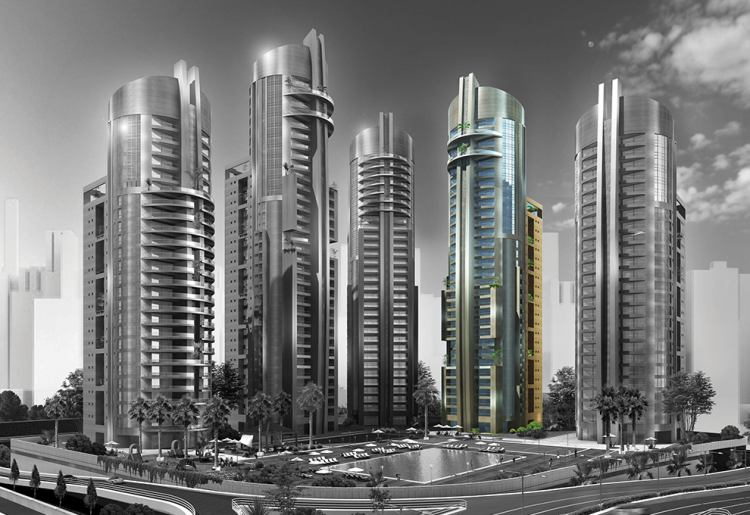 Take A Look At The Magnificent Unveiling Of The Eko Pearl Champagne Tower | Eko Pearl Towers